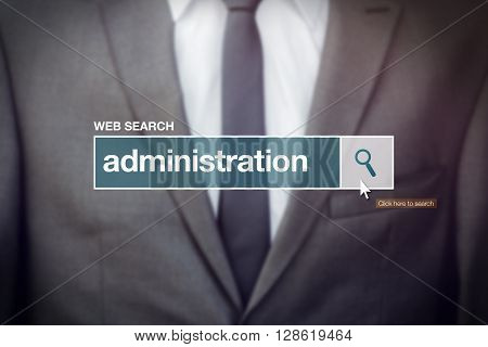 Web search bar glossary term - business administration definition in internet glossary.