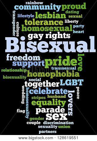 Bisexual, Word Cloud Concept 6