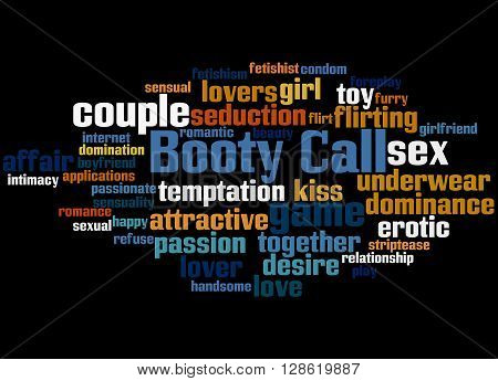 Booty Call, Word Cloud Concept 7