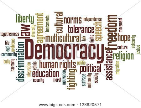 Democracy, Word Cloud Concept 4