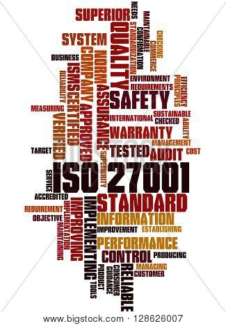 Iso 27001 - Information Security Management, Word Cloud Concept 4