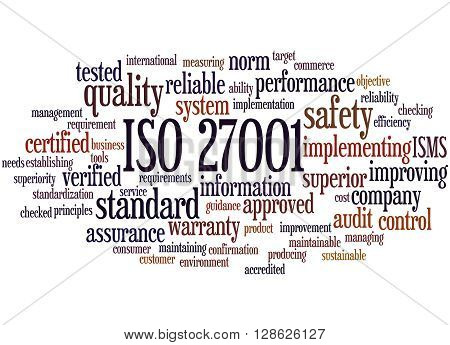 Iso 27001 - Information Security Management, Word Cloud Concept 7