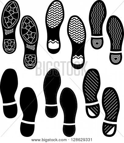 Imprint Soles Shoes (Shoe Print) Set