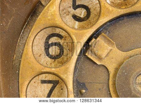 Close Up Of Vintage Phone Dial - 6