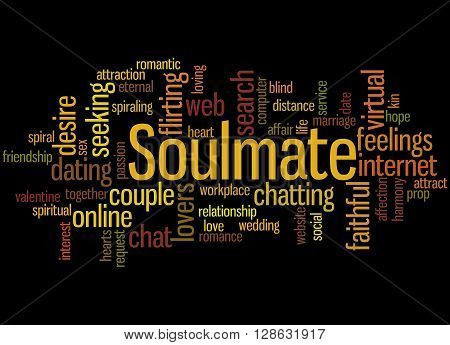 Soulmate, Word Cloud Concept