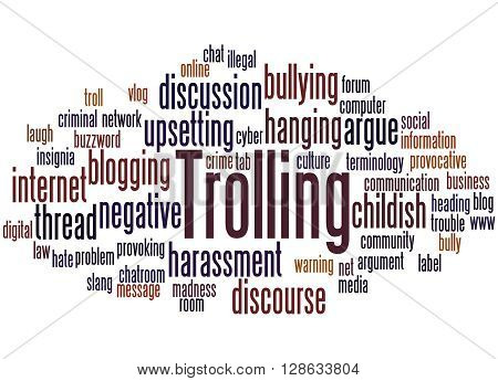 Trolling, Word Cloud Concept 4