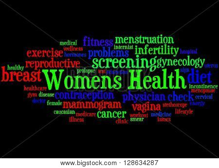 Womens Health, Word Cloud Concept 8