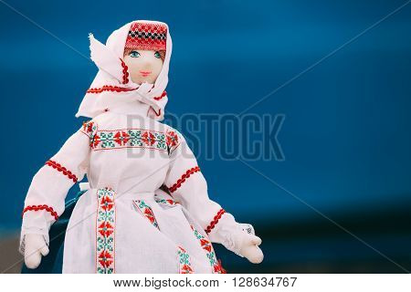 Belarusian Folk Doll. National Folk Dolls Are Popular Souvenirs From Belarus. poster