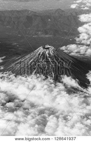 Mount Fuji Aerial View
