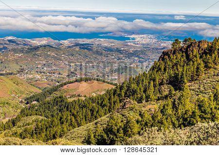 Beautiful View From Pico de las Nieves - Tejeda Gran Canaria Canary Islands Spain