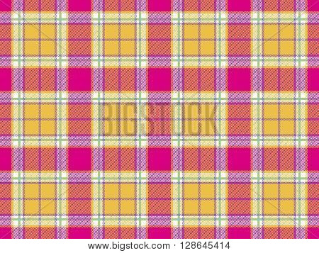 plaid indian madras fabric texture seamless background. Vector illustration. EPS 10. No transparency. No gradients.
