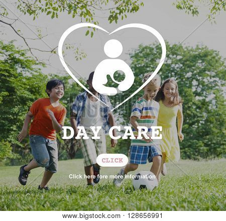 Day Care Babysitter Nanny Nursery Love Motherhood Concept poster