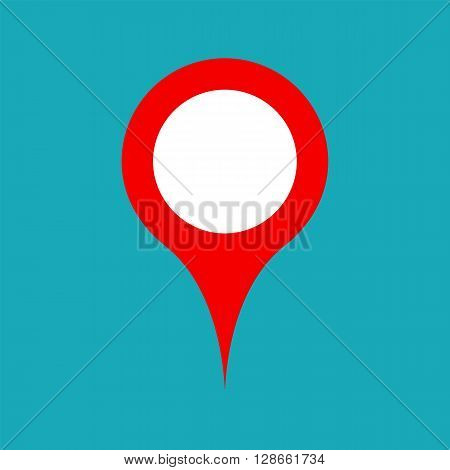 Vector pinpoint icon. Pinpoint symbol. Pinpoint sign. Pinpoint icon for website gps navigator apps business card design. Pinpoint icon for web and print. Vector flat web icon.