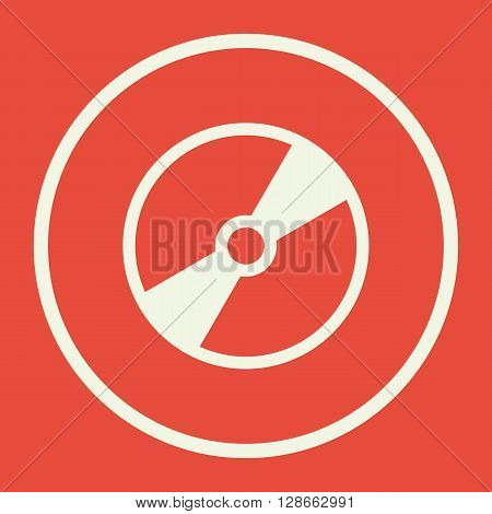 Cd Icon In Vector Format. Premium Quality Cd Symbol. Web Graphic Cd Sign On Red Background.