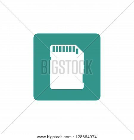 Sd Card Icon In Vector Format. Premium Quality Sd Card Symbol. Web Graphic Sd Card Sign On Green Bac
