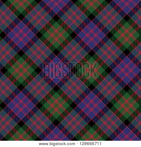 Macdonald tartan kilt fabric diagonal texture background seamless pattern.Vector illustration. EPS 10. No transparency. No gradients.
