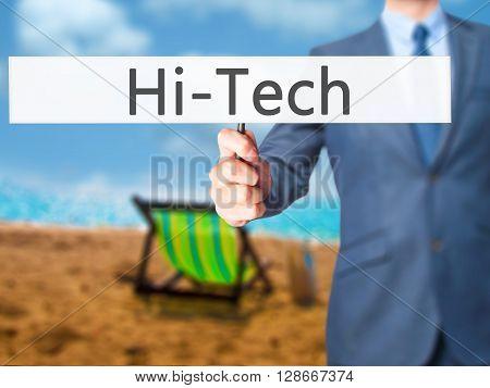 Hitech - Businessman Hand Holding Sign
