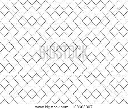Old metal mesh steel fence seamless. Vector illustration. EPS 10. No transparency. No gradients. Raw materials are easy to edit.