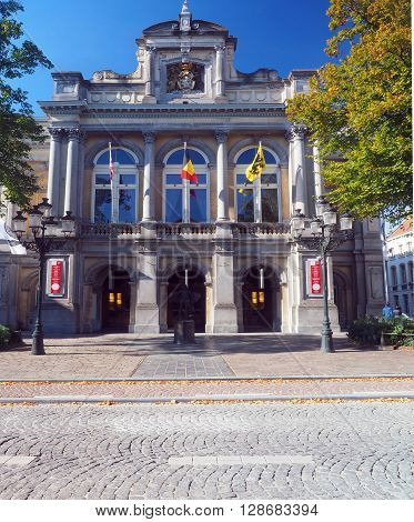 Brugge Culture Center in Bruges Belgium Europe