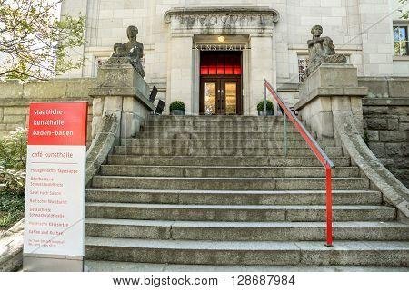 BADEN-BADEN, GERMANY  - MAY 4: City  Art Gallery in the historic center of Baden-Baden. Baden-Baden is the most visited resort in Germany. Baden-Baden, May 4, 2016