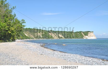 View from Vitt to Kap Arkona on Ruegen Island at Baltic Sea,Mecklenburg western Pomerania,Germany