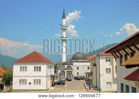 Sultan Mosque in downtown Plav, Montenegro