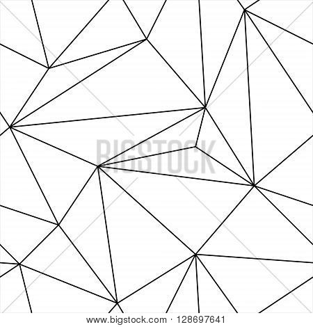 Simple geometric black and white seamless triangle pattern. Seamless triangle pattern from the thin lines.