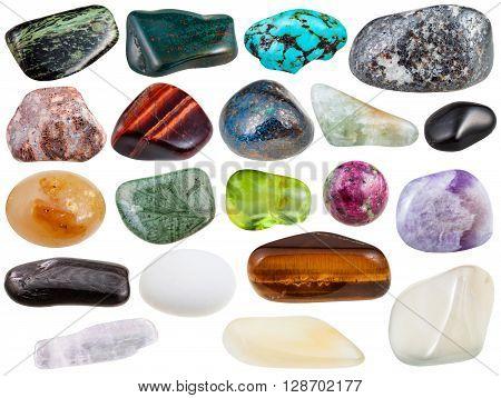 Set Of Various Polished Natural Gemstones