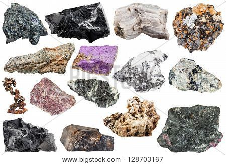 Set Of Various Natural Mineral Stones And Rocks
