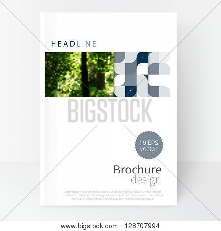 Cover design for Brochure, leaflet, poster template. stock-vector abstract background. EPS 10