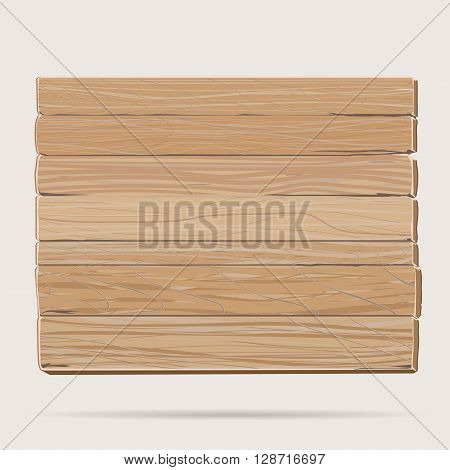 Wooden board, cartoon blank signboard rectangular banner , old dry textured wood billboard background, brown plywood placard