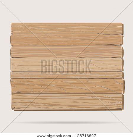 Wooden board, cartoon blank signboard rectangular banner , old dry textured wood billboard background, brown plywood placard