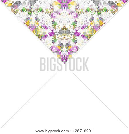 White Background With Geometric Ornate Triangle Borders