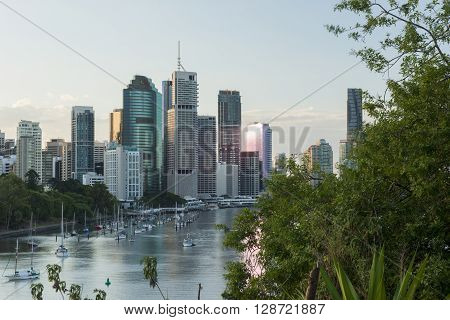 Brisbane, Australia - 23rd April, 2016: View of Brisbane City from Kangaroo Point during the day on the 23rd of April 2016.?