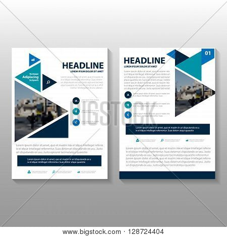 Blue Vector Businees proposal Leaflet Brochure Flyer template design, book cover layout design