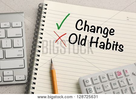 Change versus Old habit messages, Lifestyle change concept
