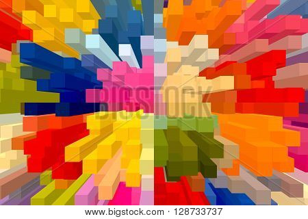 The Colourful Abstract Block Picture