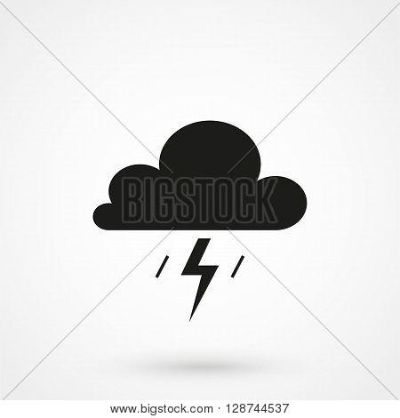 Cumulonimbus Clouds Icon Vector