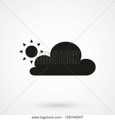 Partly Cloudy Icon Vector
