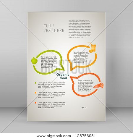 Natural Food Oganic Flyer Template A4 Brochure Layout