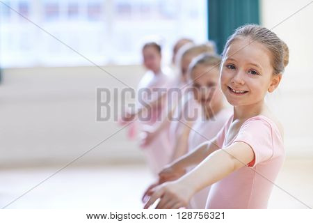 Group Of Young Girls In Ballet Dancing Class ** Note: Soft Focus at 100%, best at smaller sizes