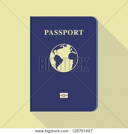 Passport icon. Hand drawn  vector stock illustration