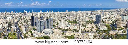Tel Aviv Cityscape at Sunny Day - Panorama Of Tel Aviv