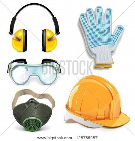 Vector Protective Equipment isolated on white background