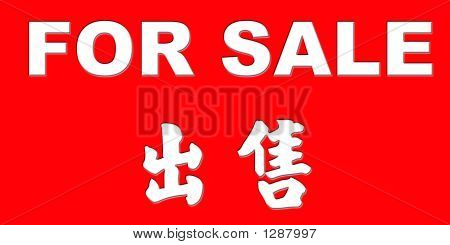 For Sale Sign -Chinese & English
