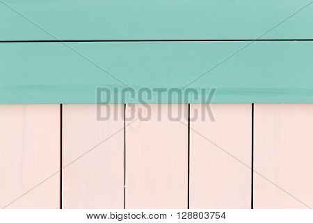 Creative Green And Rose Colored Stained Wood