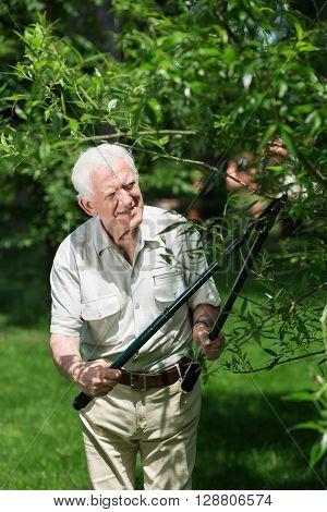 Man Doing Garden Work