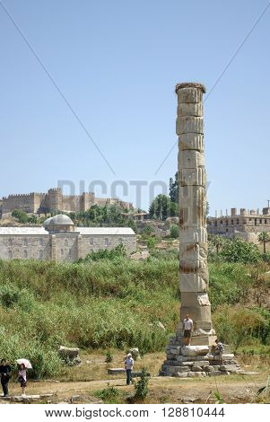 Site of the Temple of Artemis in the town of Selçuk near Ephesus.