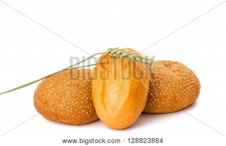 bakery products on white backgroundt, wheat, gourmet,
