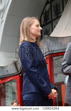 LOS ANGELES - MAY 4:  Jodie Foster at the Jodie Foster Hollywood Walk of Fame Star Ceremony at the TCL Chinese Theater IMAX on May 4, 2016 in Los Angeles, CA
